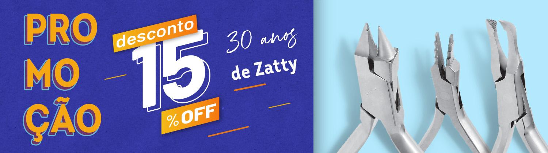 Zatty 30 anos 15% OFF